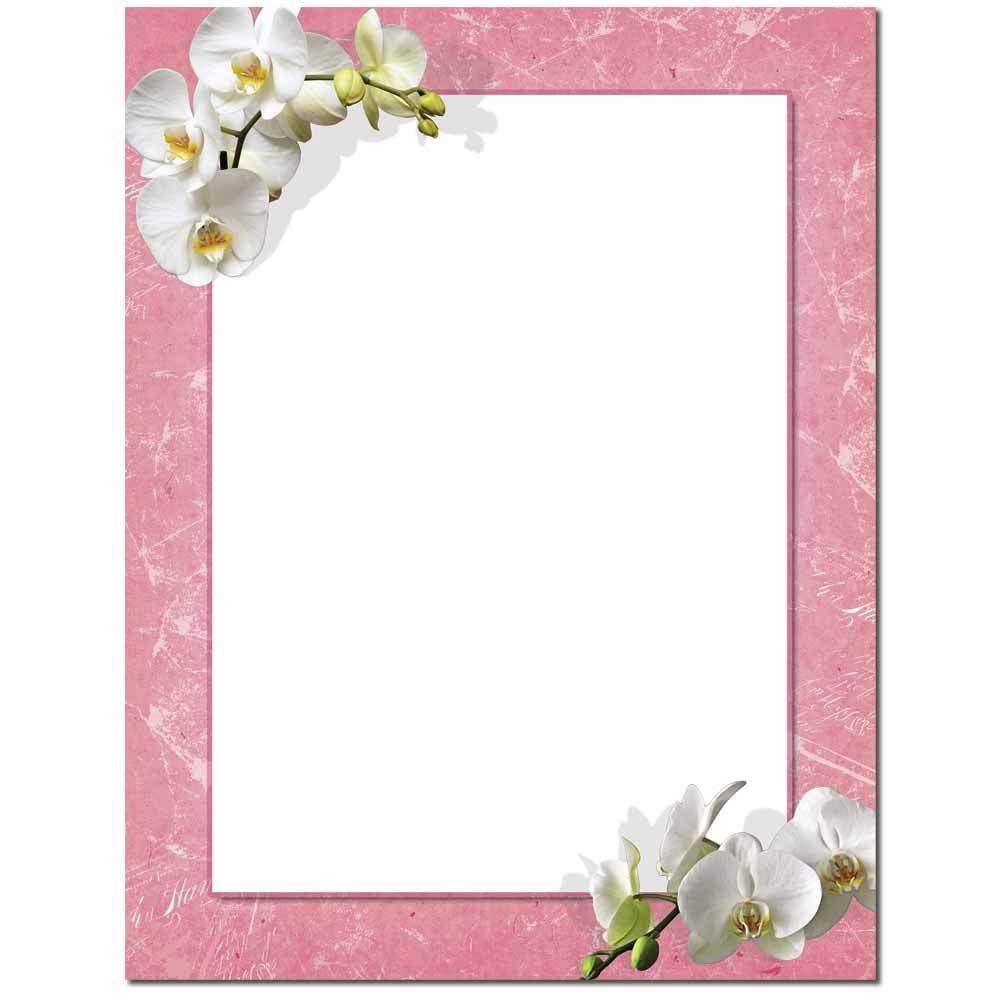 White Orchids Letterhead