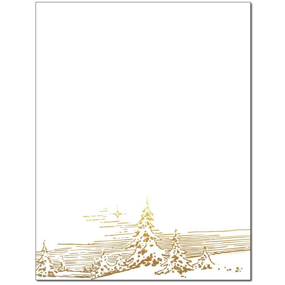 Winter Landscape Letterhead
