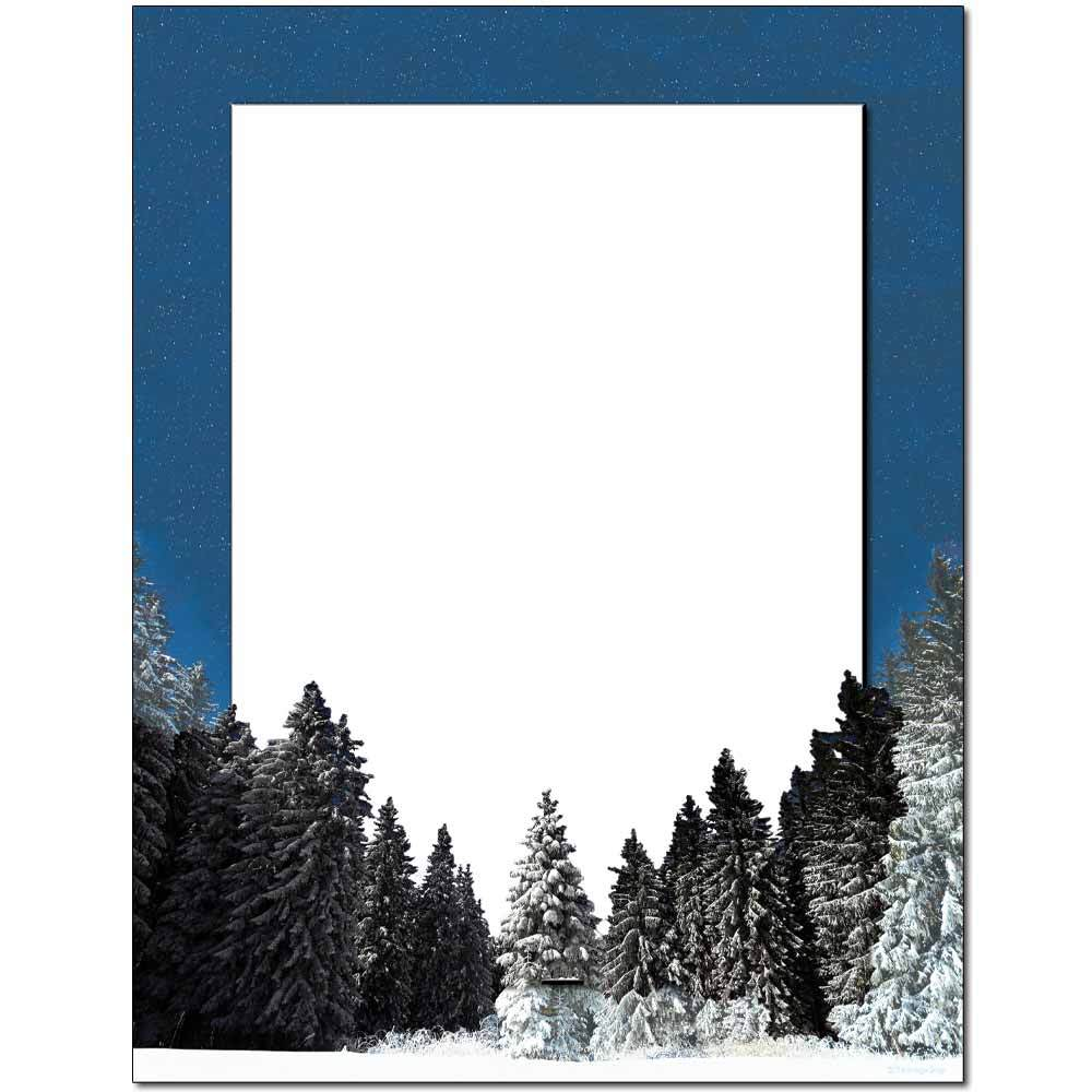 Winter Night Letterhead