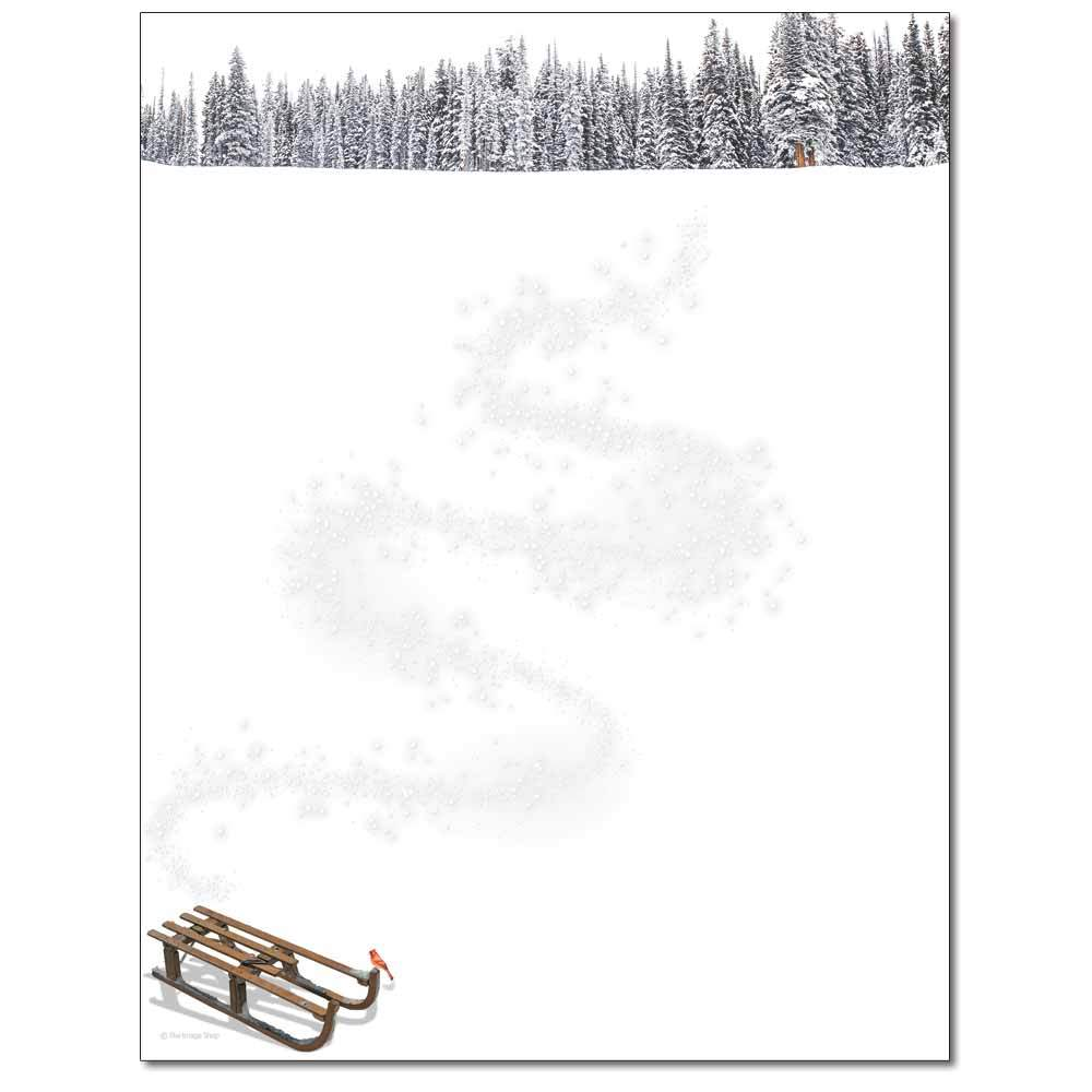 Winter Sled Letterhead
