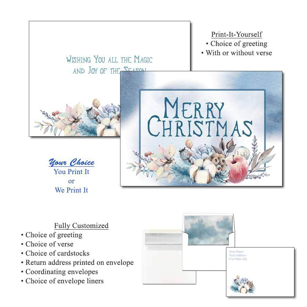 Winter's Blush Greeting Cards