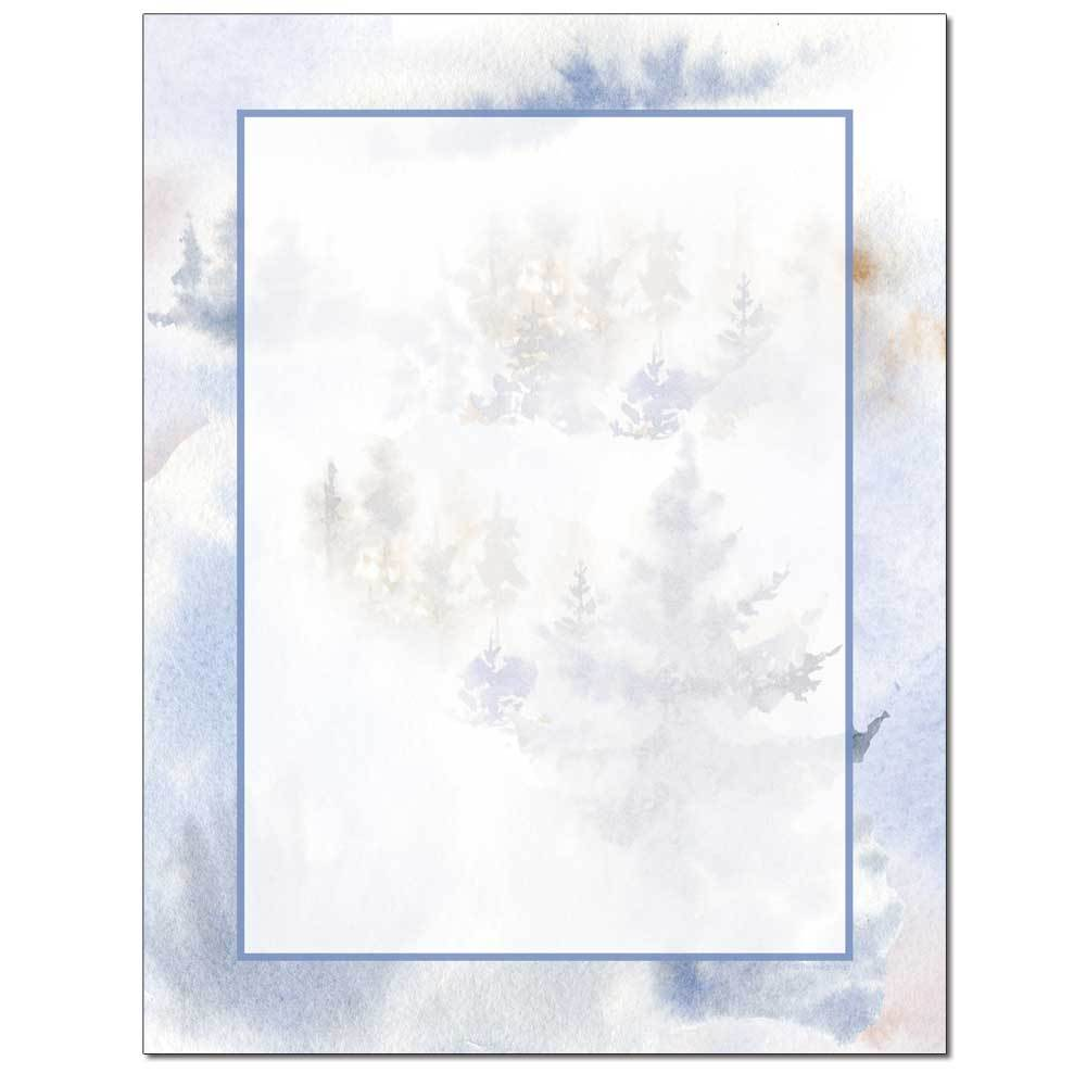 Wintery Trees Letterhead