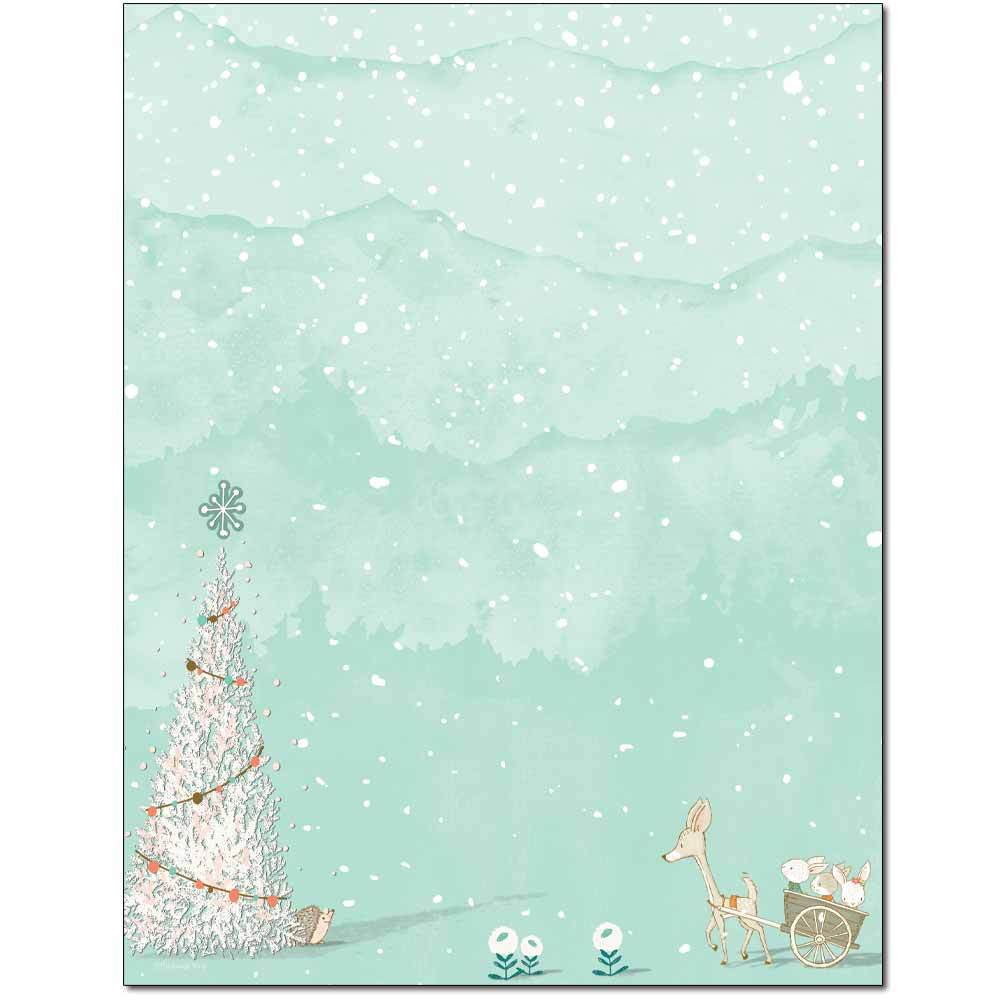 Woodland Christmas Letterhead