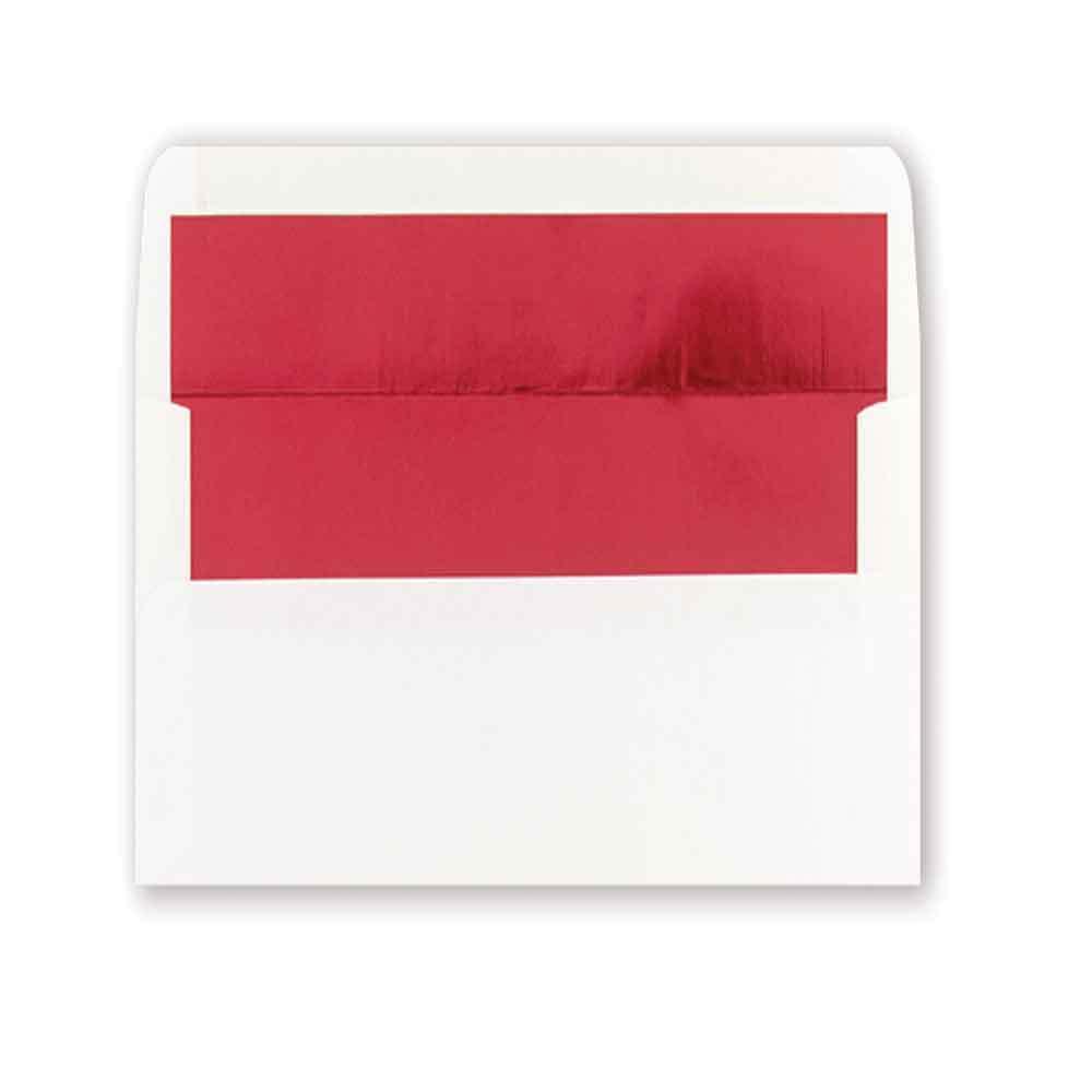 Red Foil A8 Envelope