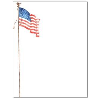 American Flag Letterhead - 25 pack