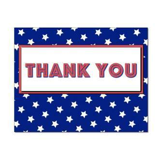 American Stars Thank You Card