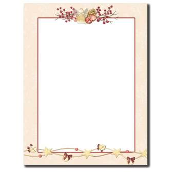 Angel Bells Letterhead - 100 pack
