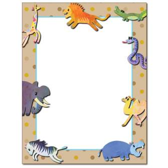Animal Babies Letterhead