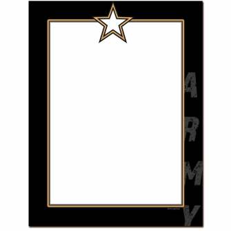 Army Letterhead - 25 pack