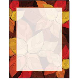 Artistic Leaves Letterhead - 100 pack