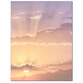 At Sunset Letterhead - 25 pack