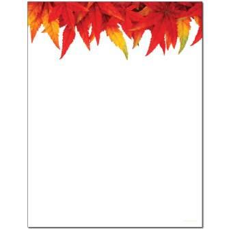 Autumn Splendor Letterhead - 25 pack