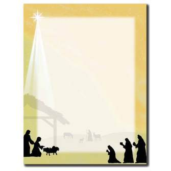 Away In The Manger Letterhead - 100 pack