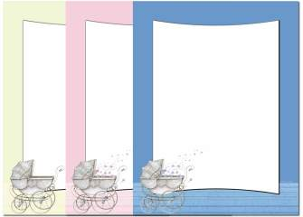 Baby Carriage Letterhead - 100 pack