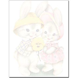 Baby Bunnies Letterhead - 100 pack
