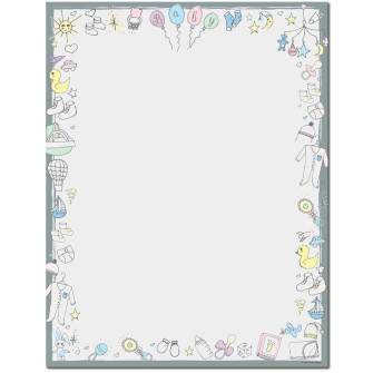 Baby Time Letterhead - 80 pack