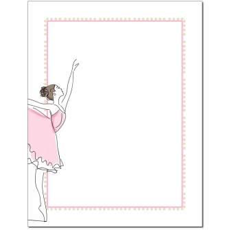 Ballerina Letterhead - 25 pack