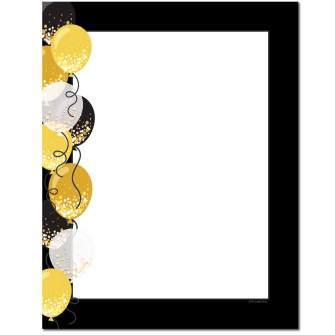 Balloon Border Letterhead - 100 pack