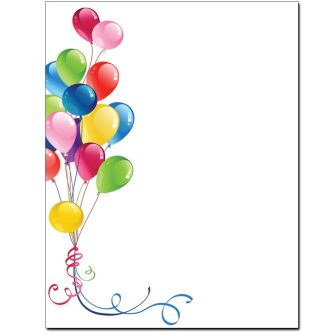 Balloon Bouquet Letterhead - 25 pack