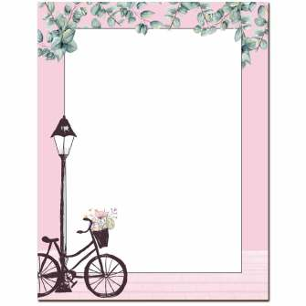 Basket of Flowers Letterhead - 100 pack