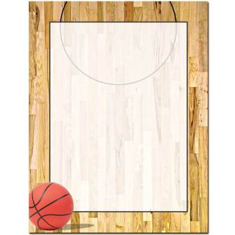 Basketball Court Letterhead - 25 pack