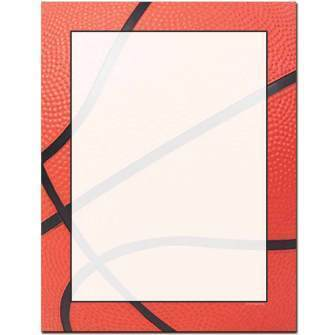 Basketball Letterhead - 25 pack