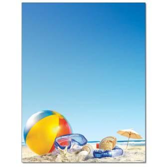 Beach Ball Letterhead - 100 pack