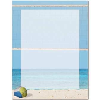 Beach Volleyball Letterhead - 25 pack
