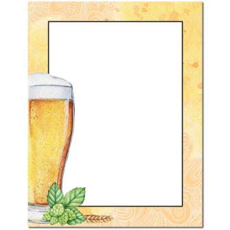 Beer Glass Letterhead - 100 pack