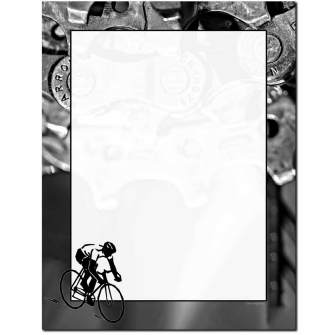Bicycle Race Letterhead - 25 pack