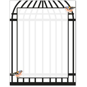 Birdcage Letterhead - 25 pack