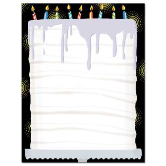Birthday Cake Letterhead - 25 pack