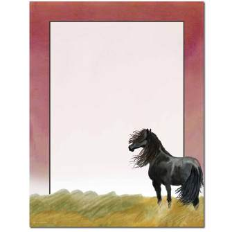 Black Stallion Letterhead - 25 pack