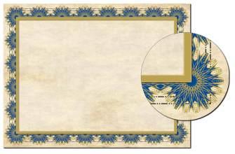 Blue Deco Certificate - 25 Pack