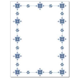 Blue Delft Letterhead - 25 pack