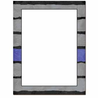 Blue Line Letterhead