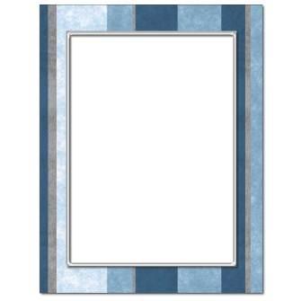 Blue Stripes Letterhead - 25 pack