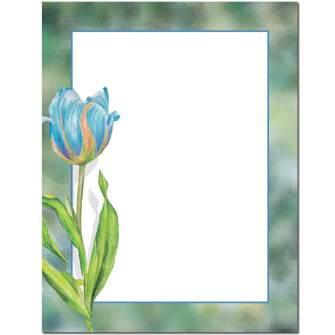 Blue Tulip Letterhead - 100 pack