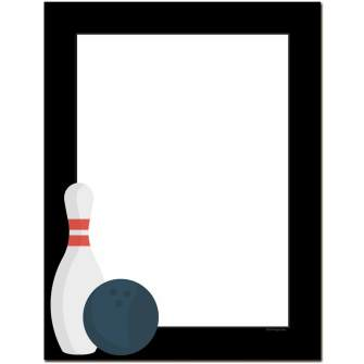 Bowling Night Letterhead - 100 pack