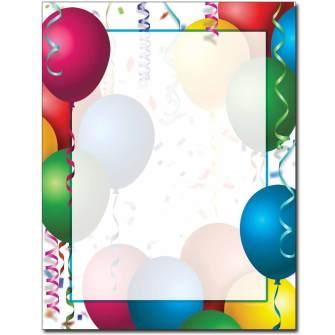 Bright Balloons Letterhead - 25 pack