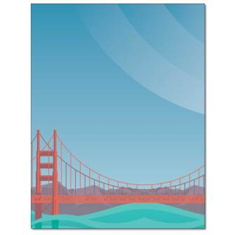 By The Bay Letterhead - 25 pack