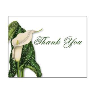Calla Lily Thank You Card