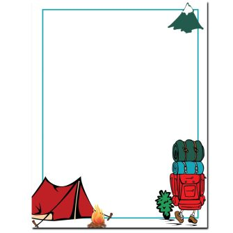 Camping Trip Letterhead - 100 pack