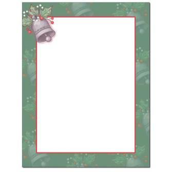 Caroling Bells Letterhead - 100 pack