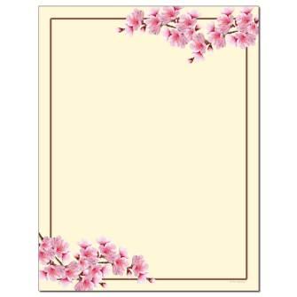Cherry Blossom Letterhead - 100 pack
