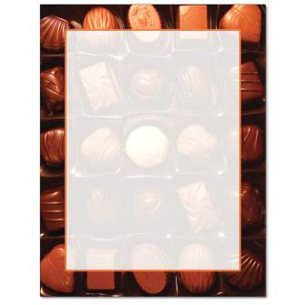 Chocolates Letterhead - 25 pack