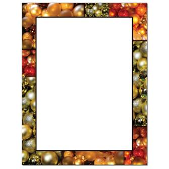 Christmas Baubles Letterhead - 25 pack