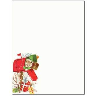 Christmas Mailbox Letterhead - 100 pack