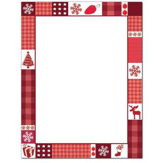 Christmas Patches Letterhead - 25 pack
