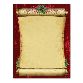 Christmas Scroll Post Card 48pk